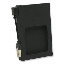 """Manhattan 130113 Encapsulador SATA 2.5 a USB 2.0 silicón negro"""""""