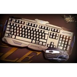 HAVIT HV-KB550CM Combo USB Teclado / Mouse Retroiluminado Gaming