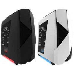Nzxt Noctis 450 Black / White Case Gaming Media Torre