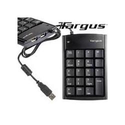 TARGUS TECLADO NUMERICO MINI USB CON HUB USB 2 PUERTOS