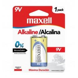 Maxell Batería Alkalina 9V Cuadrada 1 Unid 6LF22-1BP