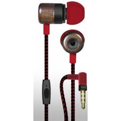 Auriculares estéreo con micrófono con cascos de madera