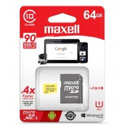Maxell Tarjeta de Memoria Micro SDXC CL10 con Adaptador SD MCSD-8CL10