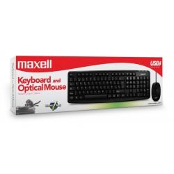 Maxell Combo de Teclado y Mouse Con Conexión USB WRKBC-10