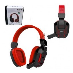 Havit HV-H2168D Headset Gaming con microfono 3.5mm USB - Rojo-Negro Led