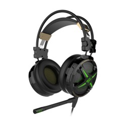 Havit HV-2163U Headset Gaming USB 7.1 con microfono 3.5mm + USB 7.1 Verde-Negro