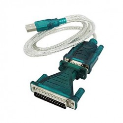 Cable USB a DB9 o DB25 (RS232)