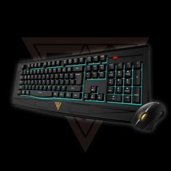 Gamdias GKC6001 Ares 7 Color Combo Teclado Mouse USB Inglés