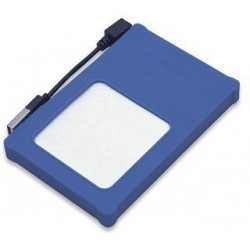 """Manhattan 130110 Encapsulador SATA 2.5"""" a USB 2.0 silicón azul"""